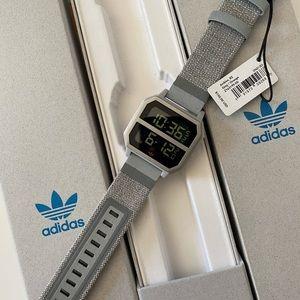 NWT Adidas Archive R2 Silver Silicone Quartz Watch